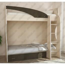 Детская кровать 2-х ярусная Беби-2 венге