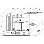 Гостиная Валенсия-5 венге-дуб белёный