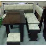 Кухонный уголок Тип-3 венге/белый