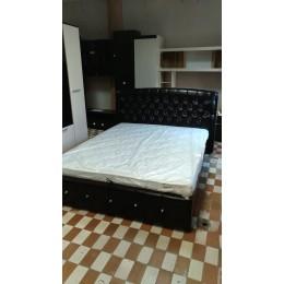 Кровать Мадлен с подъёмным механизмом шоколад 1,6 м