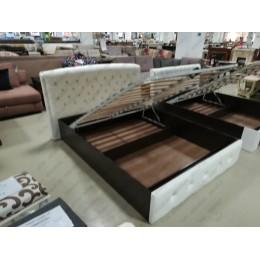 Кровать Мадлен с подъёмным механизмом белая 1,6 м