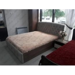 Кровать Мадлен с подъёмным механизмом велюр 1,6 м
