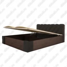 Кровать Сильва с подъёмным механизмом черная 1,6
